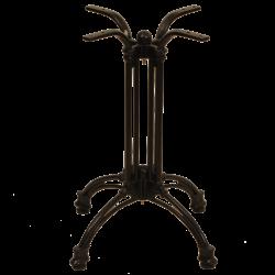 Gietijzer 4-teens zwart laag