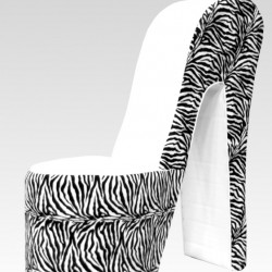 Pump / Hakstoel White/Zebra